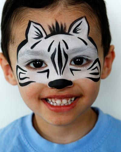 Have to remember this one...I hate when someone asks for a Zebra! Schmink Zebra / face paint www.hierishetfeest.com