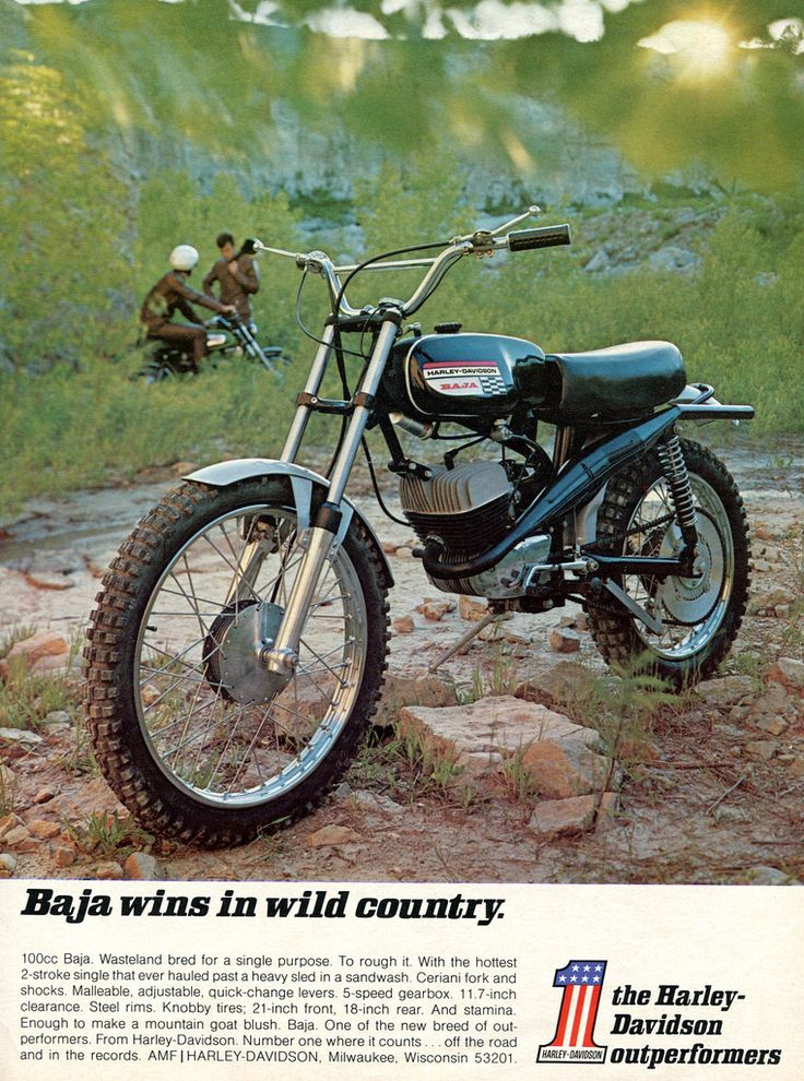 1970 Harley-Davidson Baja Motorcycle Advertisement Hot Rod November 1970 (by SenseiAlan)