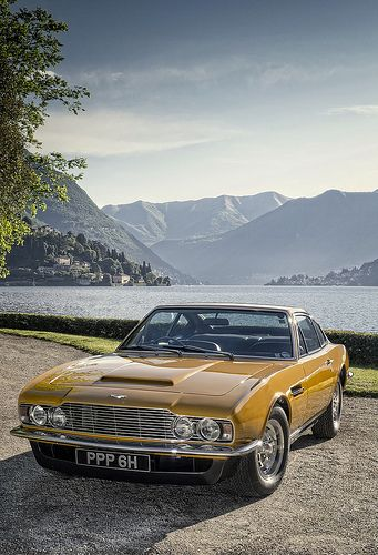 Aston Martin DBS - Lord Brett Sinclair's car from The Persuaders -with Sir Roger Moore and Tony Curtis' autographs under the hood.