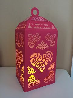 A Thing for Paper: Ladybug Love Shack and Love Lantern. Beautiful heart themed paper lantern :)