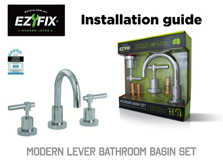So easy to DIY, No waiting around for costly plumbers anymore! ezyfix-modern-lever-install-guide by EZYFIX The DIY Revolution via Slideshare
