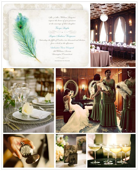 Vintage Speakeasy Wedding Inspiration Board | Wedding Paper Divas Blog