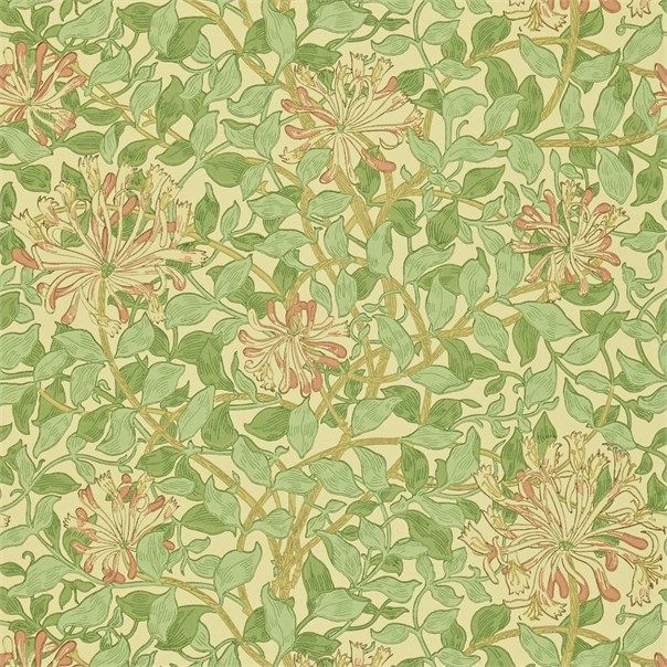 Honeysuckle ---- The Original Morris & Co - Arts and crafts, fabrics and wallpaper designs by William Morris & Company   Search - find your perfect Morris design with our comprehensive search tools   British/UK Fabrics and Wallpapers