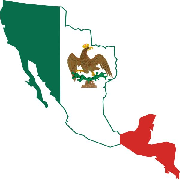 First Mexican Empire 18211823  Flag Maps  Pinterest  Empire