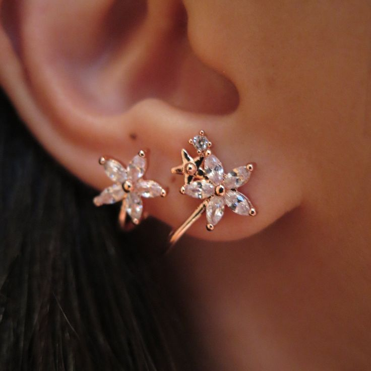 Floral Twirl Earrings