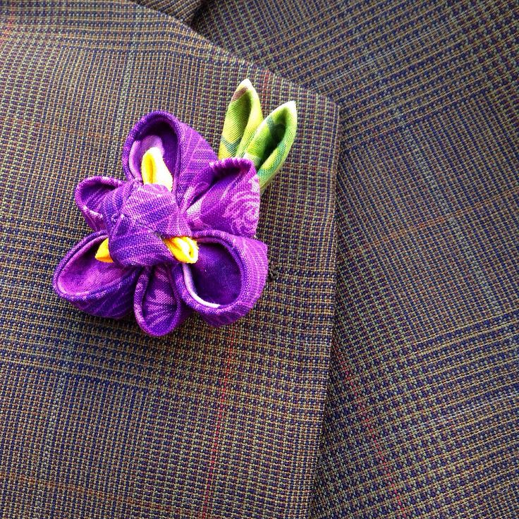 Mens Lapel Pin Flower Lapel Pin Custom Lapel Pins Men Iris Kanzashi Brooch Purple Lapel Flower Purple Boutonniere Groomsmen Gift For Him Dad by exquisitelapel on Etsy https://www.etsy.com/listing/496183651/mens-lapel-pin-flower-lapel-pin-custom