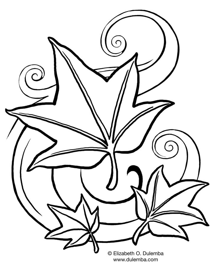 Simple Coloring Pages Trees Plants And Flowers