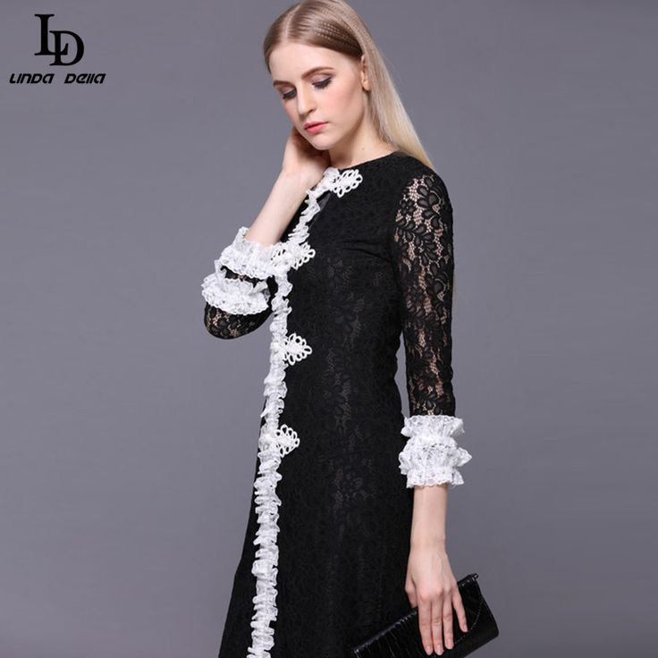 Women's Half Sleeve Luxury Birds Beading Sequin Black Knee Length Dress Like and share if you think it`s fantastic! http://www.skaclothes.com/product/new-fashion-2016-runway-dress-womens-high-quality-half-sleeve-luxury-birds-beading-sequin-black-knee-length-dress #shop #beauty #Woman's fashion #Products
