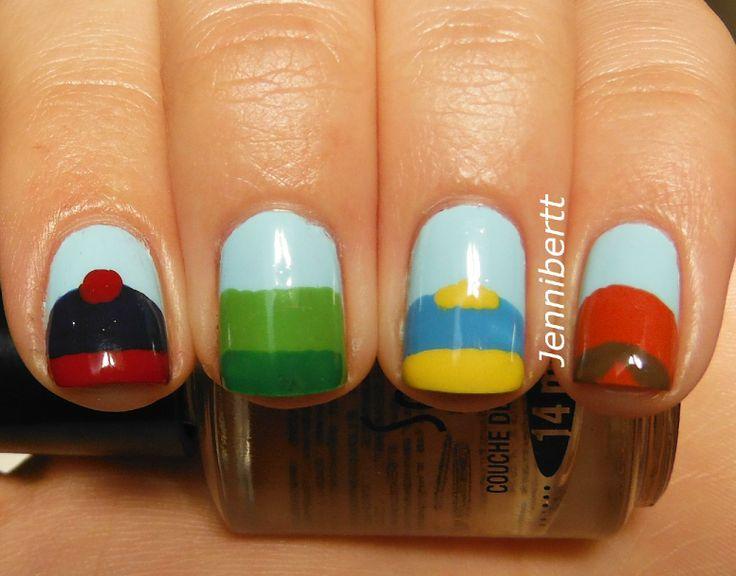South Park Nails www.jennibertt.blogspot.com