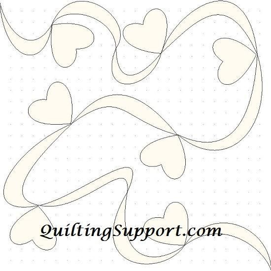Free Motion Quilting Designs Hearts : Free Quilting Pattern: Ribbon Hearts Line Quilting Quilting-Free Motion Pinterest Quilting ...