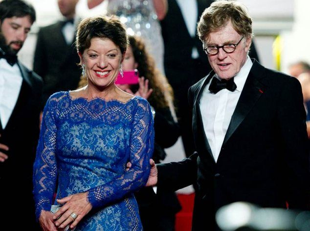Stalwart: Robert Redford pictured in Cannes with his wife, Sibylle