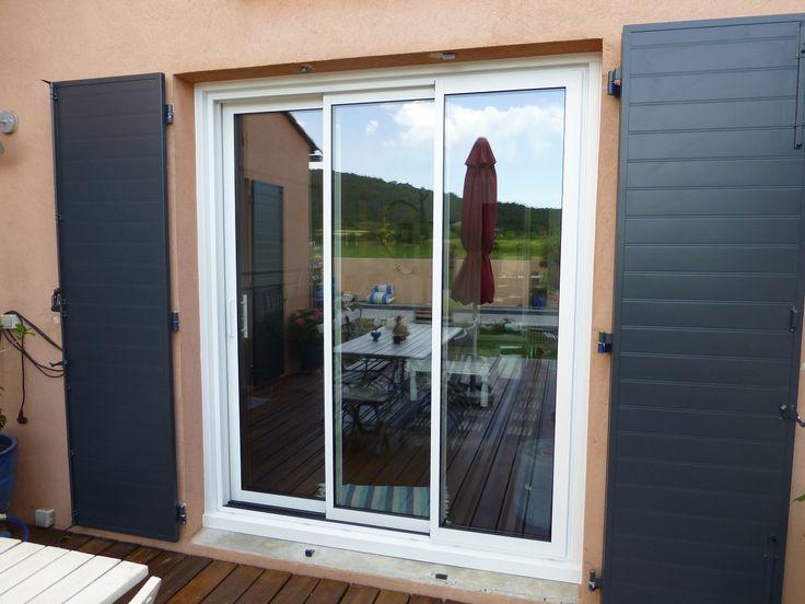les 25 meilleures id es de la cat gorie baie coulissante 3 vantaux sur pinterest baie vitr e 3. Black Bedroom Furniture Sets. Home Design Ideas