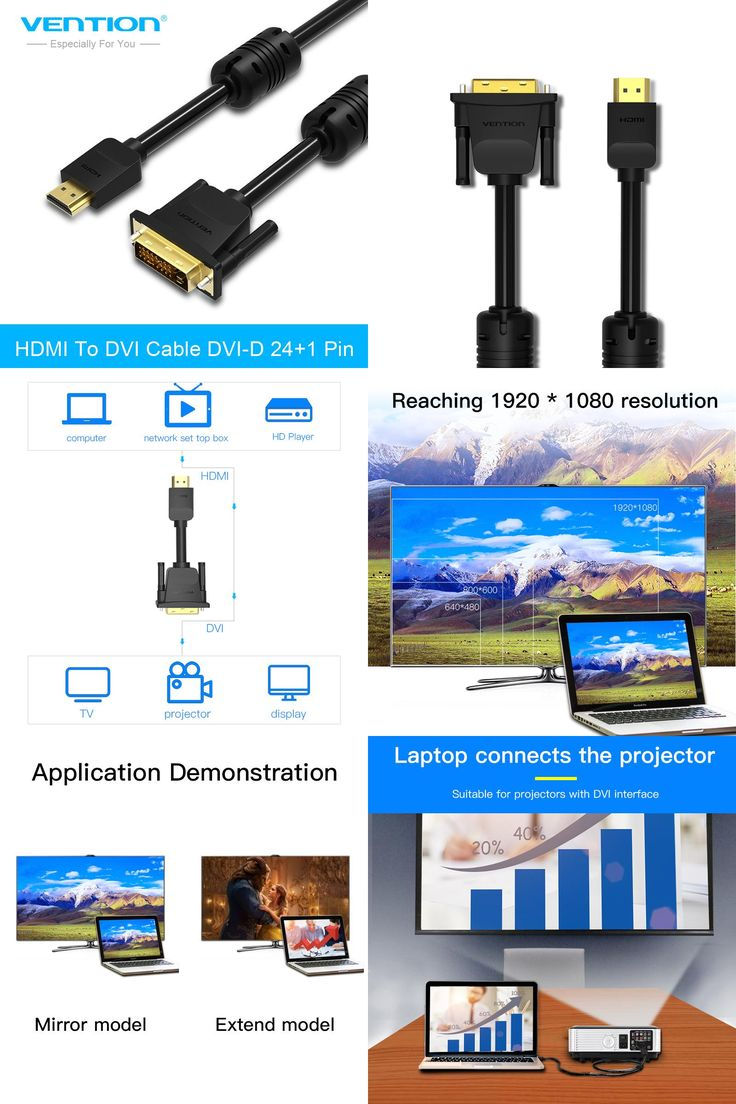 [Visit to Buy] Vention HDMI to DVI cable DVI-D 24+1 Pin male to male 1080P HD 3D Cable adapter for Monitor PS4 Projector High speed hdmi cable #Advertisement