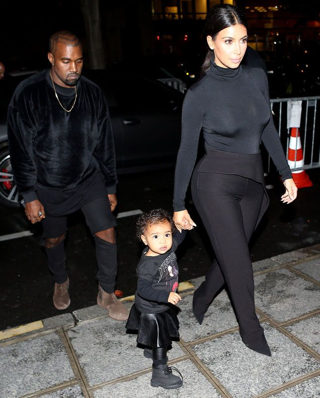 North West Walks Hand in Hand With Mom Kim Kardashian in Paris: See the Photo! | E! Online Mobile