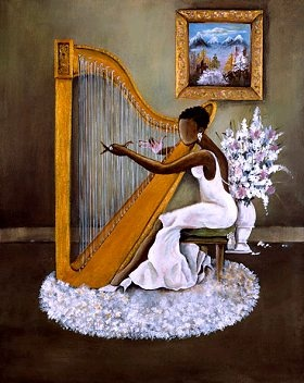 """""""Melody by Annie Lee. #harp."""" Beautiful."""