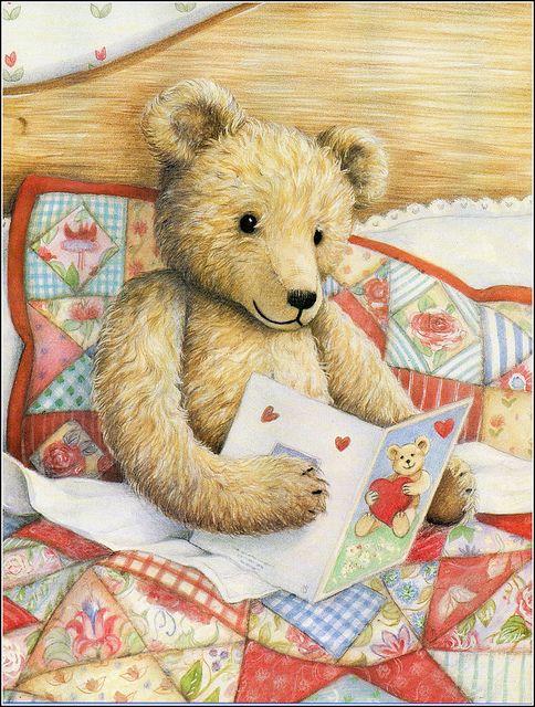 Teddy in bed by sue-tarr, via Flickr