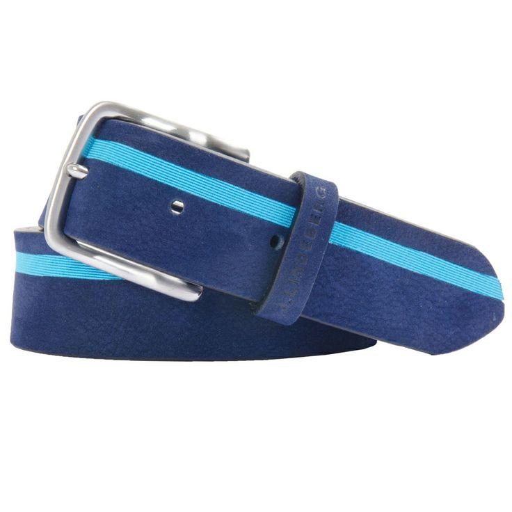 J Lindeberg Striper Brushed Leather Navy Purple #golf #fashion #trendygolf #jlindeberg