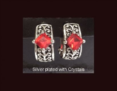 Clip On Earrings, Fashion, Silver, Crystals | Mothers Day Gift    #earrings #fashion #gifts #style #cliponearrings #clipon #silverearrings #silverjewelry #silver #jewelry #jewellery #mothersday