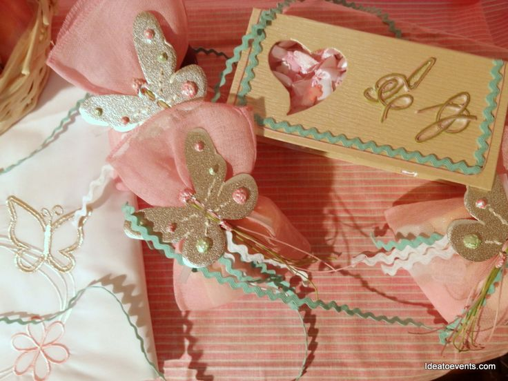 Romantic Christening theme butterfly! Deco by ideatoevents.com