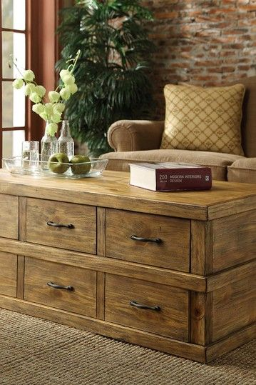 Primitive Medium Coffee Table - Pine by Furniture Deals For Every Style on @HauteLook
