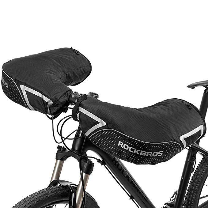 Rockbros Lenkerstulpen Lenker Handschuhe Fur Fahrrad Motorrad Roller Scooter Gefuttert Winddicht Wasserabweisend Reflektierend Fahrrad Roller Roller Motorrad