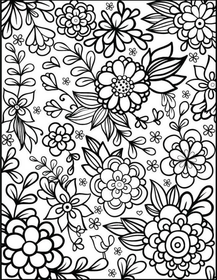 Flower Coloring Pages For Adults Printable Free Coloring Sheets Printable Flower Coloring Pages Detailed Coloring Pages Flower Coloring Sheets