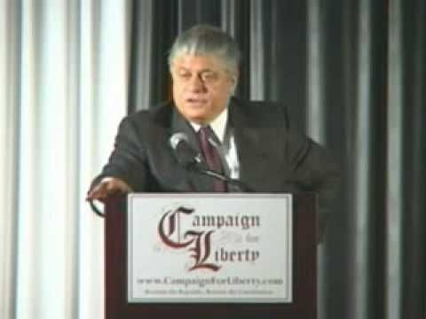 "This man is ""right - on"" and brings a vital warning.  Former Judge Andrew Napolitano"