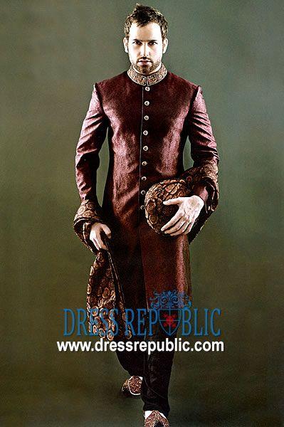 Style DRM1013, Product code: DRM1013, by www.dressrepublic.com - Keywords: Sherwanis Shops in Madinah, Makkah, Dammam, Riyadh, Saudi Arabia