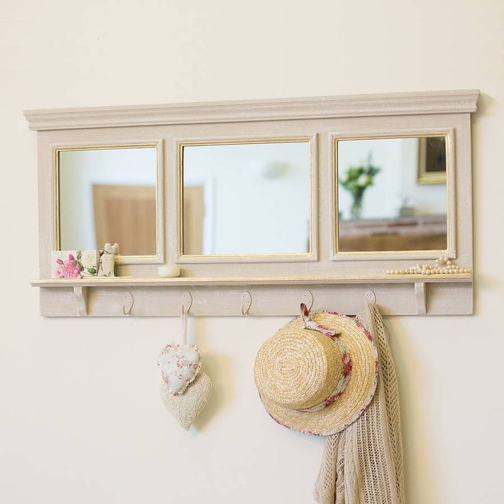 Grande Mirror With Hooks By Dibor Notonthehighstreet Com