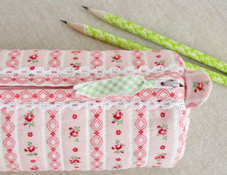 A little lace is always fun - version of the Round Pencil Case