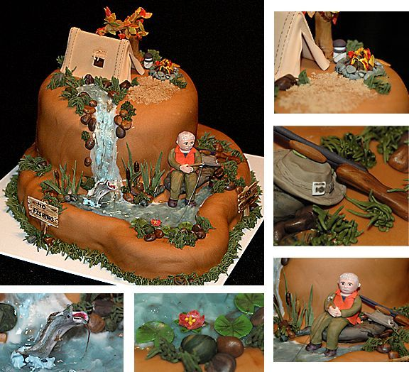 67 best fishing themed cakes images on Pinterest Themed cakes