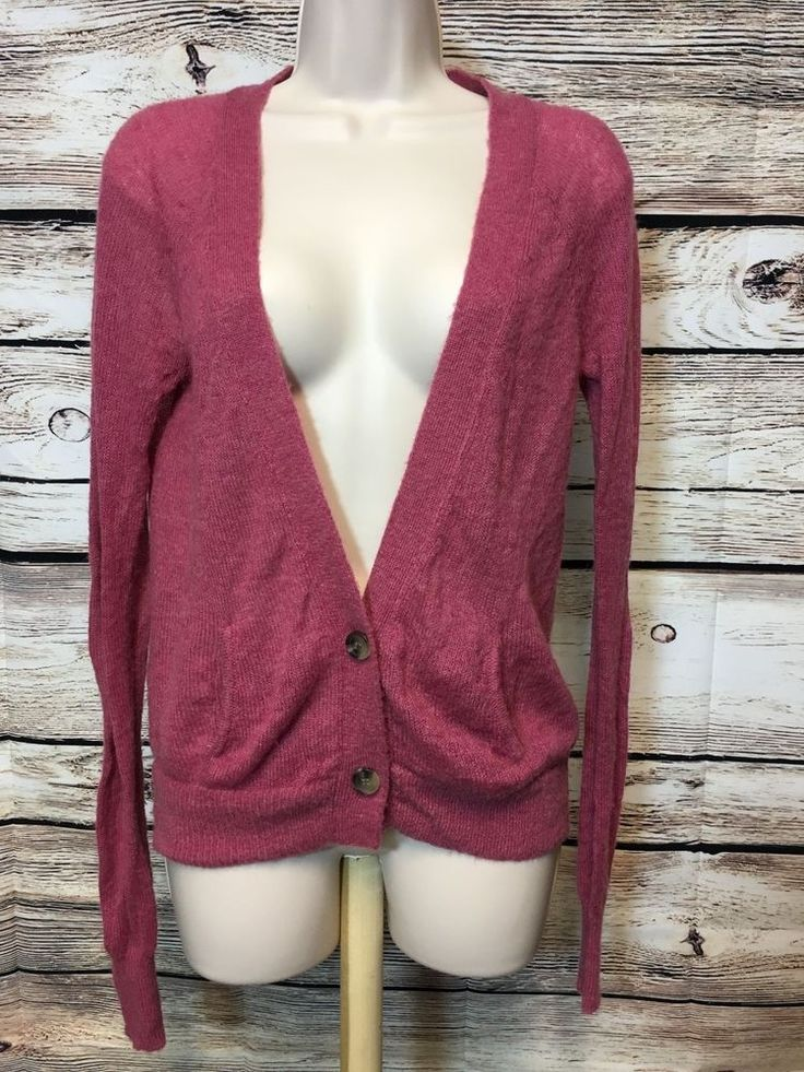 American Eagle Outfitters Size Small Pink Cardigan Wool Mohair Blend Sweater #AmericanEagleOutfitters #Cardigan