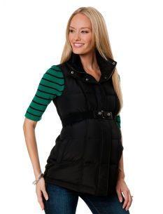 Quilted Puffer Ponte Maternity Vest
