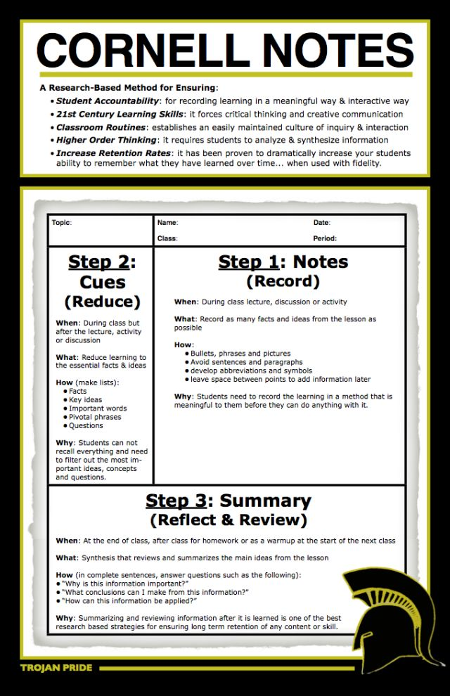 86 best images about Cornell Notes – Cornell Note Taking Template