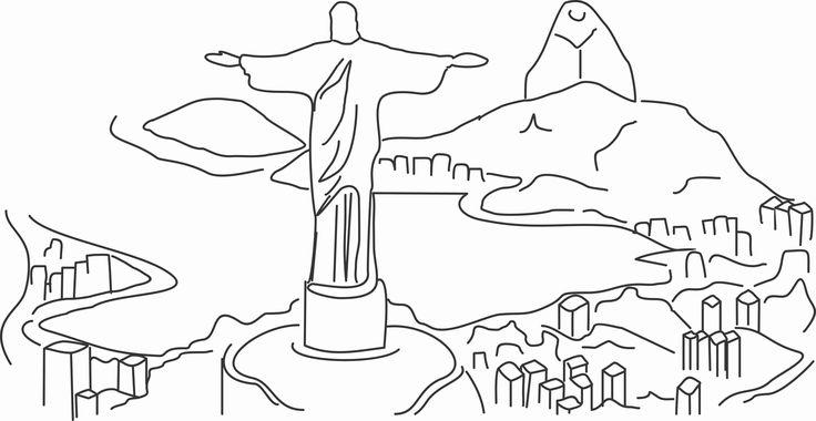 Desenho do Cristo Redentor                                                                                                                                                                                 Mais