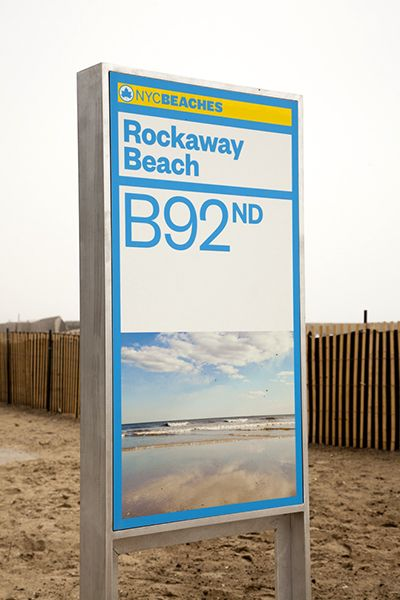 The new signage for New York City's beaches celebrates their beauty.