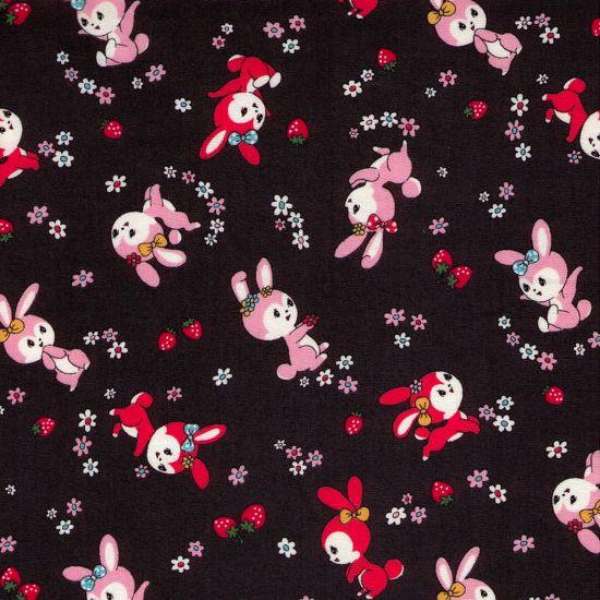 Cosmo cotton bunnies. Katoen met konijntjes print.