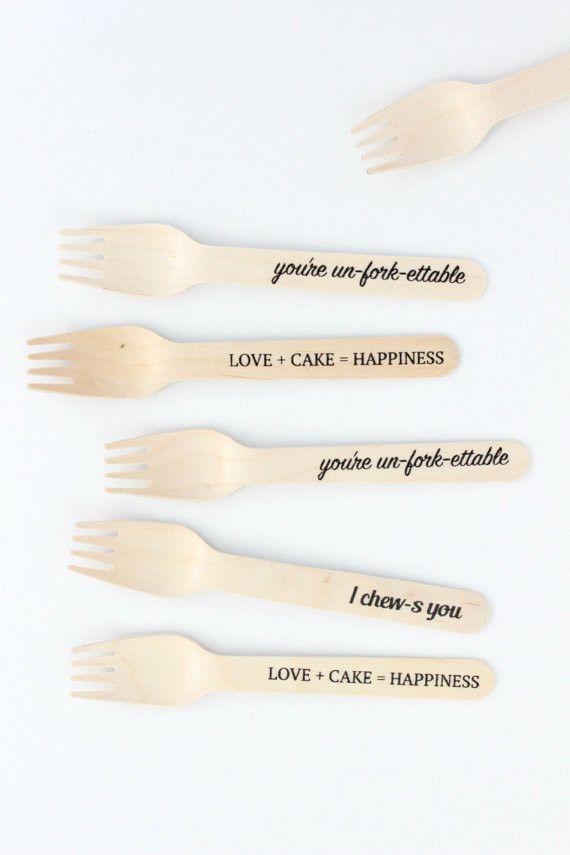 punny wedding utensils by Sucre Shop | Sucre Shop