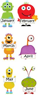 Monster months and ordinal numbers freebie.