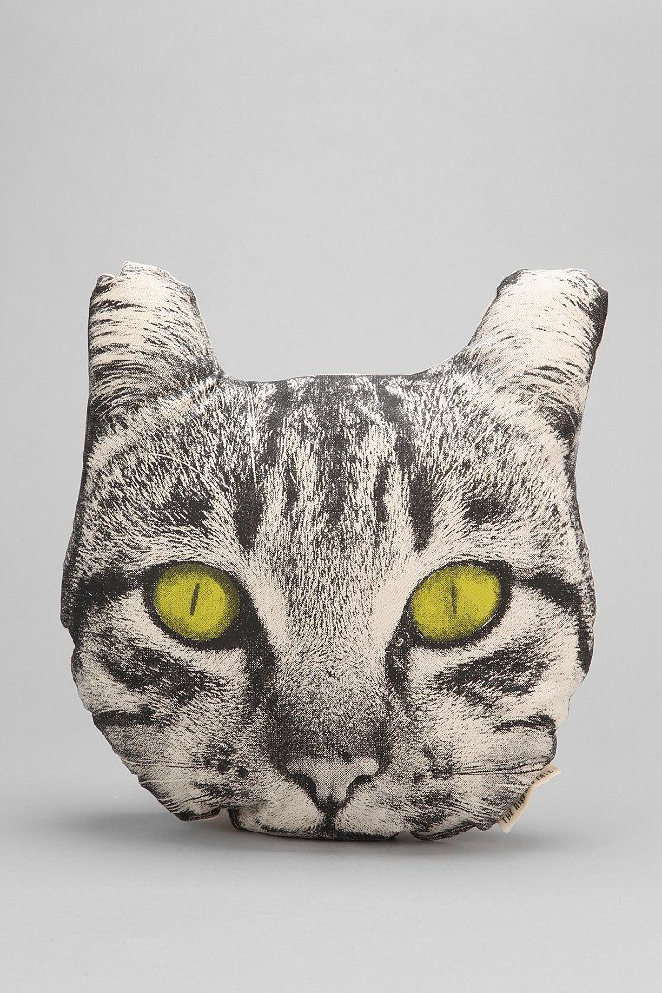 The Rise And Fall Cat Face Pillow