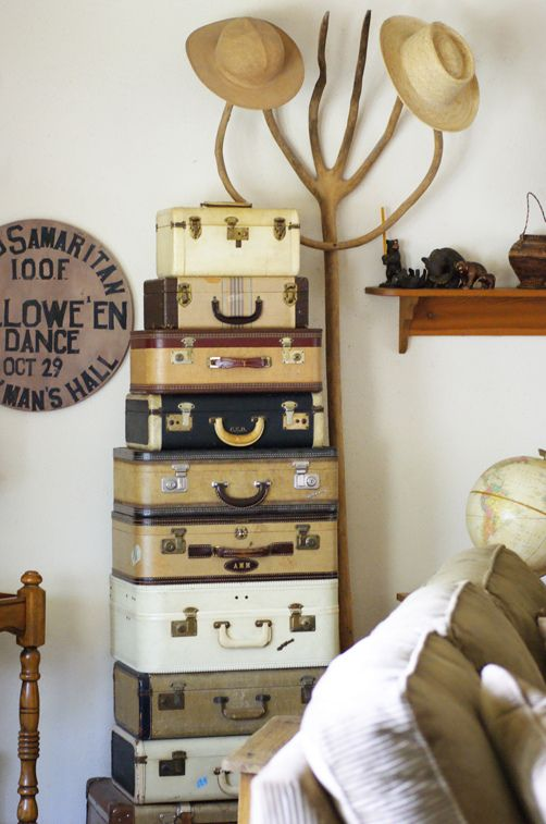 Vintage suitcase collection: