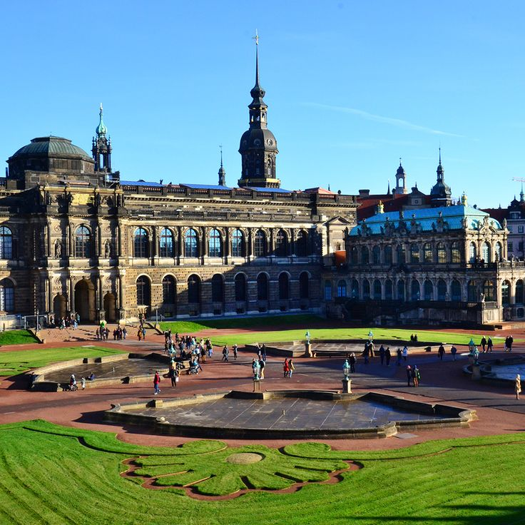 The Zwinger. This is a world-renowned architectural masterpiece in the Baroque style. It was built in 1709 during the reign of Augustus Strong and became one of the most important attractions of Dresden - the capital of Saxony. Zwinger is decorated with unique sculptures by different artists of those times.  #dresden