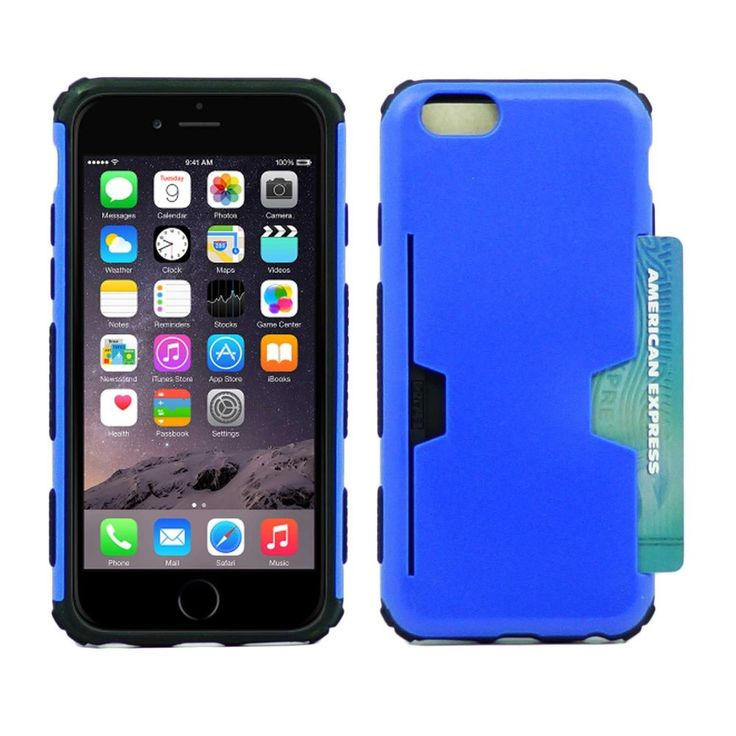 "For Apple iPhone 6S / 6 4.7"" Protective Case with Credit Card Holder Cover #UnbrandedGeneric"