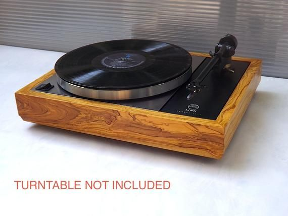 Linn Sondek Lp 12 Olive Wood Plinth Custom Solid Olive Wood Etsy Olive Wood Plinths Turntable