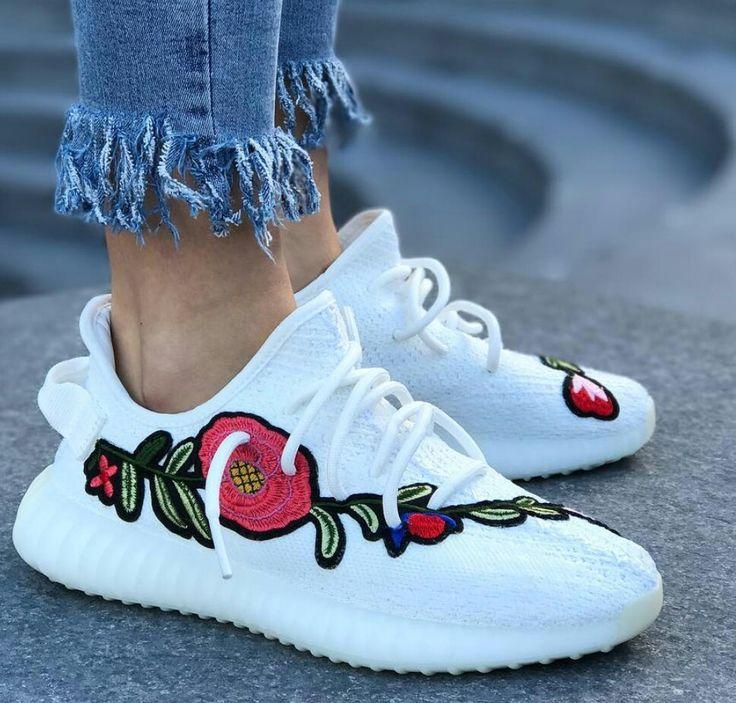 Yeezy 350 v2 cream Red Rose #DopeKickz