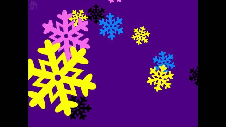 Baby Sensory Christmas video  - snowflakes- high contrast