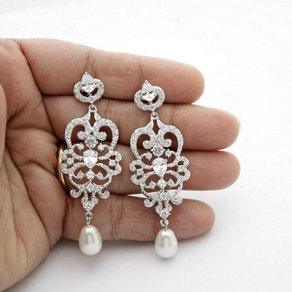 Best 25+ Bridal chandelier earrings ideas on Pinterest   Blush ...