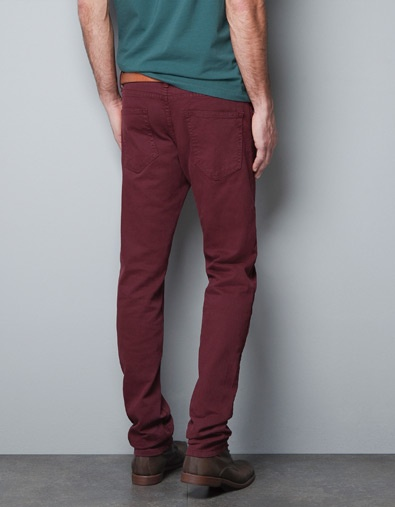 Zara - Slim Fit Mustard Trousers