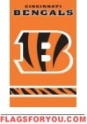 "Bengals Orange Applique Banner 44"" x 28"""
