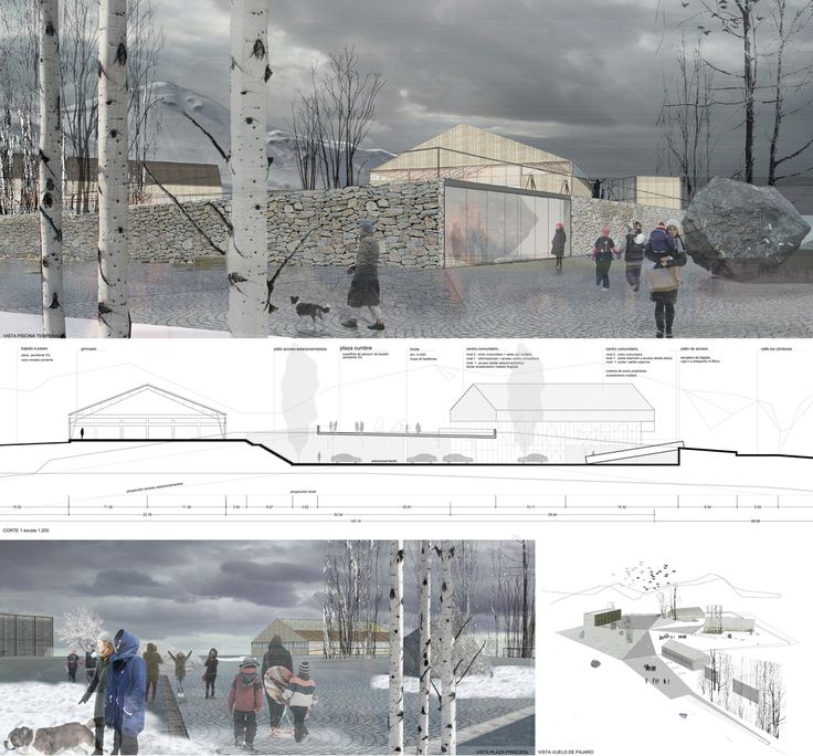 Galería de Presentan ganadores de concurso de espacios públicos para la vida cordillerana en Farellones, Chile - 1